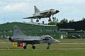 Viggen 37098 & Gripen 39220 at Malmen 2012 (8430028361).jpg