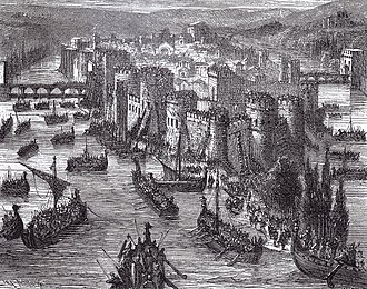 Siege of Paris (845) - A Viking siege of Paris, 19th century portrayal