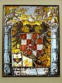 Villingen, Franziskanermuseum, Wappenscheibe Kaisers Karl V., Freiburg, 1538, Inv. 11829.jpg