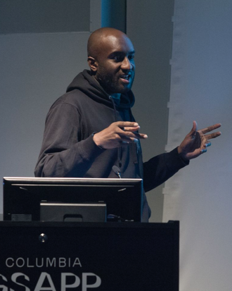 Virgil Abloh - Abloh lecturing at Columbia University in 2017