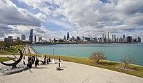 Vista del Skyline de Chicago desde el Planetario, Illinois, Estados Unidos, 2012-10-20, DD 08.jpg
