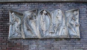 Jan van Borssum Buisman - Relief in Vlaardingen