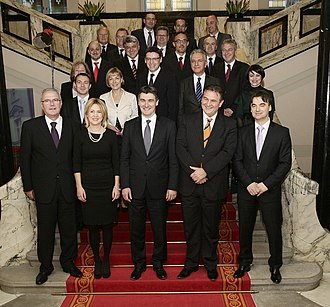 Politics of Croatia - Cabinet of Zoran Milanović in December 2011