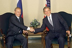 Russia under Vladimir Putin - With George W. Bush in July 2001
