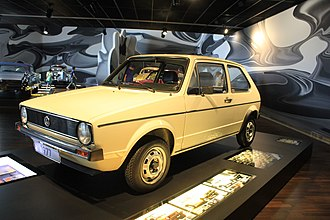 Volkswagen Golf Mk1 - 1977 Volkswagen Golf I at the ZeitHaus museum in Wolfsburg, Germany