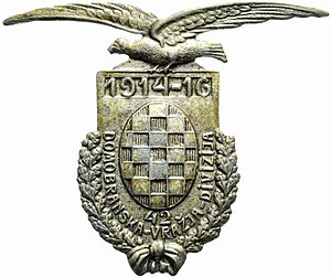 Royal Croatian Home Guard - Badge of 42nd Home Guard Infantry Division.