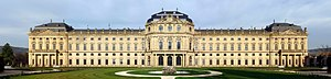 The 168 Meter long Seite of the Würzburg Resid...