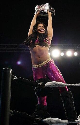 Melina Perez - Melina posing as Divas Champion in September 2010