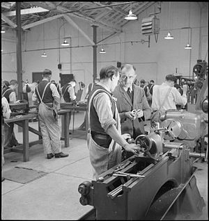 HM Prison Wakefield - In the engineering works, inmates are trained in a new trade as part of their rehabilitation and preparation for their return to society, 1944