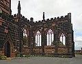 Wall of St Mary's church, Birkenhead Priory 3.jpg