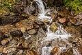 Wandeltocht rond Lago di Pian Palù (1800 m). in het Nationaal park Stelvio (Italië). Waterval langs het bergpad 03.jpg