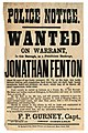 Wanted on warrant, in this borough, as a fraudulent bankrupt, JONATHAN FENTON. (8076815874).jpg