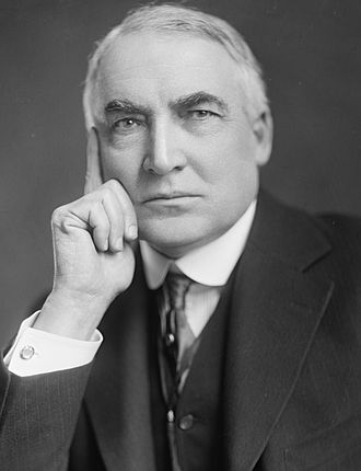 1920 Republican National Convention - Image: Warren G Harding Harris & Ewing crop