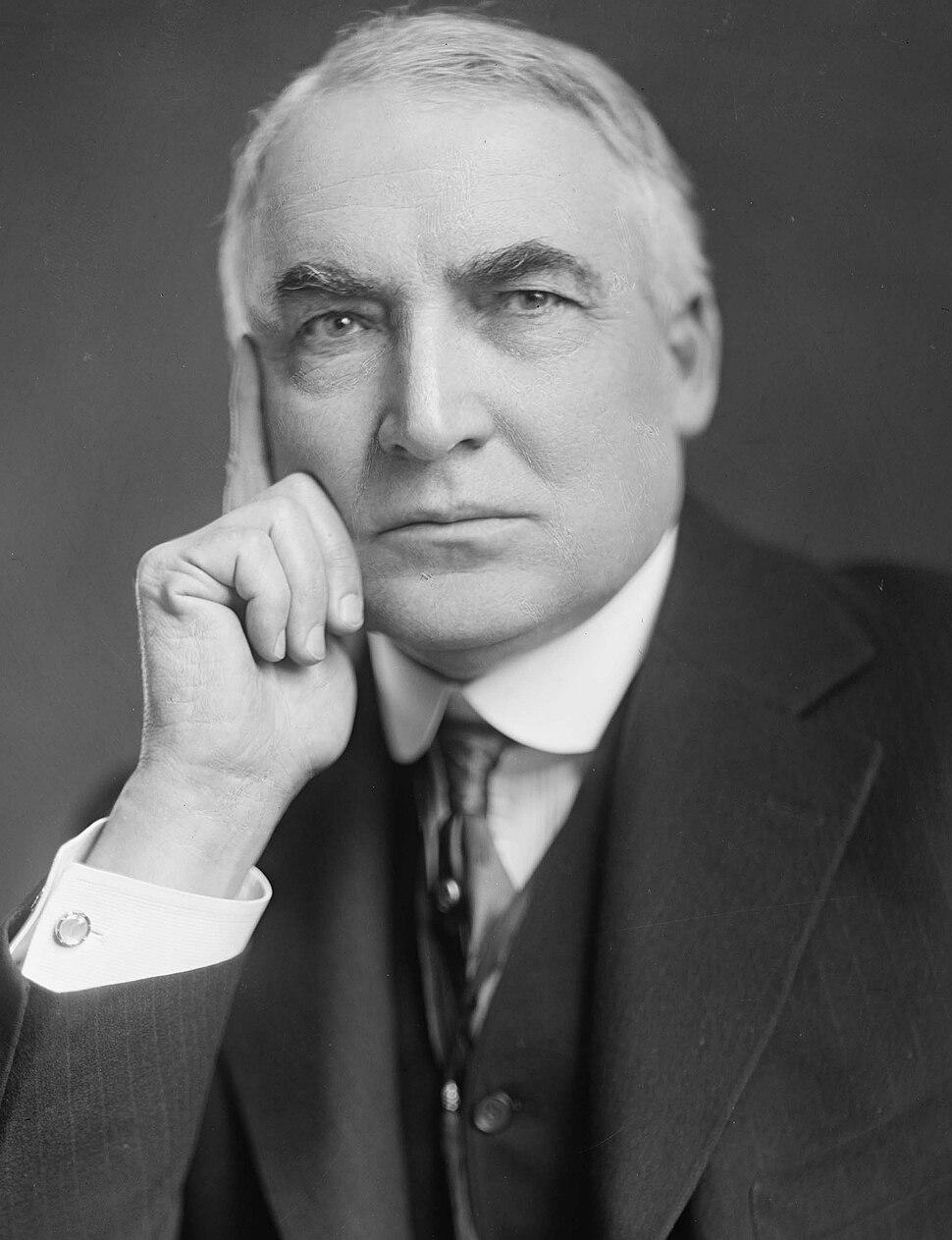 Warren G Harding-Harris & Ewing-crop