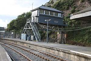 Waterford railway station - Image: Waterford Station signal box