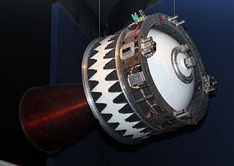 Apogee kick motor - A Waxwing apogee kick motor.