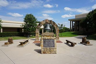 Weatherford College - Roy and Jeanne Grogan Historic Plaza in the middle of campus.