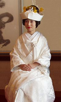 A traditional wedding kimono