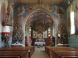 Weitnau - Interior of St. Pelagius