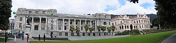 English: New Zealand Parliament Buildings, Wel...