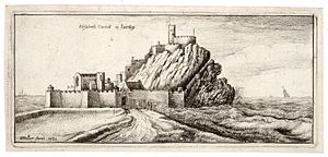 Elizabeth Castle - A 1651 depiction of the Castle