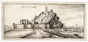 Elizabeth Castle - A 1651 depiction of the Castle