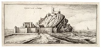 Archaeology of the Channel Islands - A 1651 depiction of Elizabeth Castle