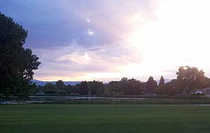 Athmar Park, Denver - Athmar Park on the east side of Huston Lake