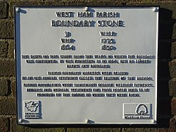 West ham parish boundary stone