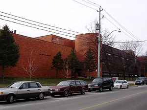 Catholic school - École secondaire catholique Saint-Frère-André in Toronto, is one of many publicly-funded French Catholic schools in the Canadian province of Ontario.