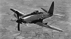 703 Naval Air Squadron - A Westland Wyvern aircraft of the Fleet Air Arm