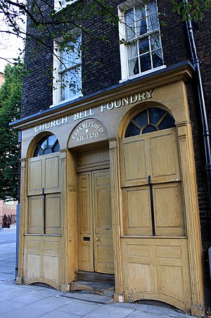 Whitechapel Bell Foundry - Street entrance of Whitechapel Bell Foundry, London