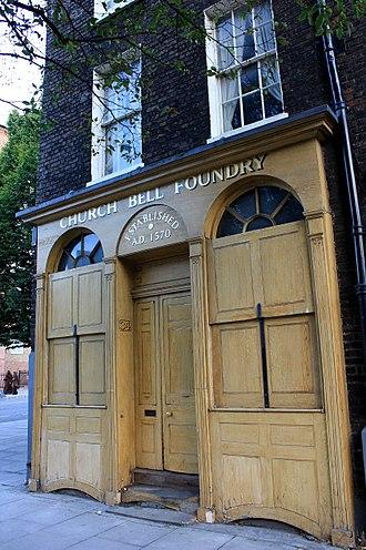 Whitechapel Bell Foundry - Street entrance of Whitechapel Bell Foundry, London