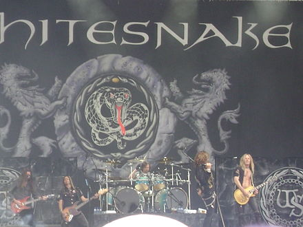 Whitesnake performing at the Arrow Rock Festival in Nijmegen, Holland, June 2008 Whitesnake Band 1.JPG