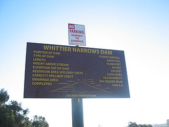 Whittier Narrows Dam - Whittier Narrows Dam Sign