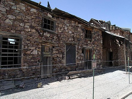1884 assay office in Vulture City, Arizona, a gold mining town