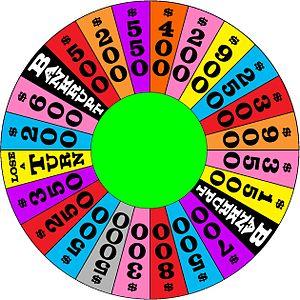 The 1986-1987 round three wheel used on nightt...