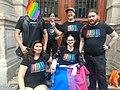 Wikidata LGBT+ group at the Paris Marche des Fiertés LGBT 2018.jpg