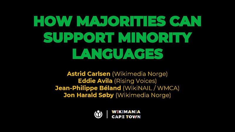File:Wikimania 2018 – How majorities can support minority languages.pdf