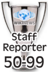 This award is presented to Wikinews reporters upon their 50th published news article.