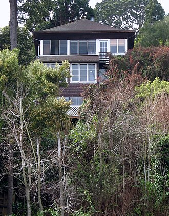 National Register of Historic Places listings in Marin County, California - Image: William G Barrett House 156 Bulkley Ave Sausalito CA 3 21 2010 11 59 16 AM