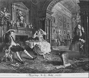 History of comics - Image: William Hogarth Marriage à la Mode, Plate 2, (Early in the Morning) Google Art Project