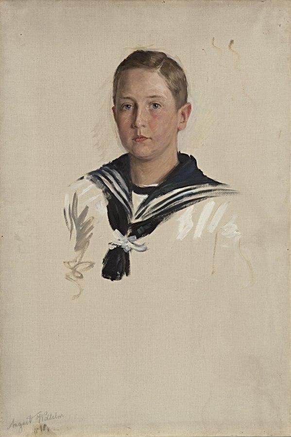 Portraitstudie August Wilhelm Prinz von Preußen. Studie zu dem Gemälde \