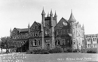 Oklahoma State University–Stillwater - Williams Hall, the Castle of the Prairies, in 1920