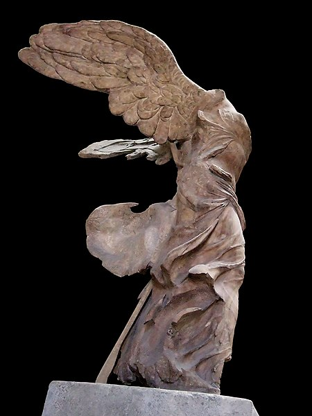 Winged Victory of Samothrace side