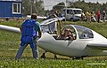 Woman after a flight in a glider (9672409437).jpg
