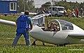 Woman after a flight in a glider (9672409437).jpg