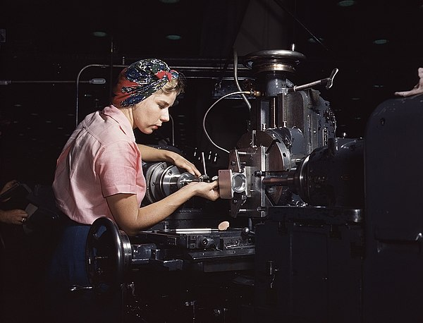 Woman machinist, Douglas Aircraft Company 1a35355v.jpg