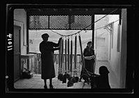 Women's Institute, Jerusalem. Stretching yarn. (Int(erior)) LOC matpc.19901.jpg