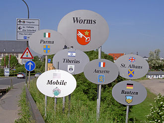 Worms, Germany - Worms' twin towns